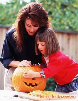Готовая голова из тыквы для Хэллоуина